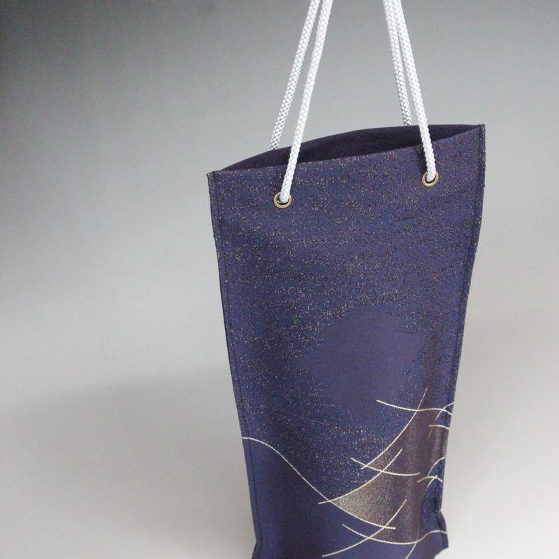 西陣織ボトルカバー【紫・取っ手付き】