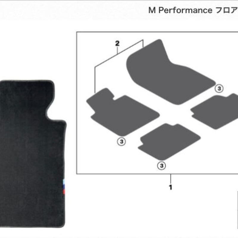 BMW 純正 G30 F90 RHD用 M PERFORMANCE フロアマットセット