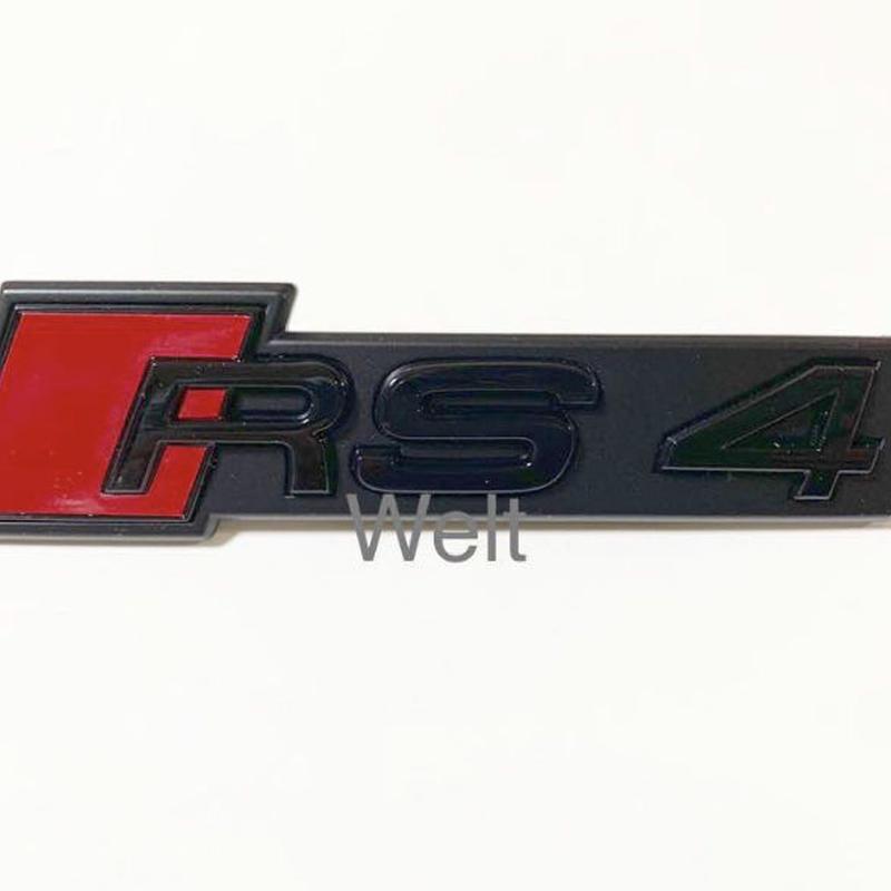 Audi 純正品 RS4 / RS4 Avant  (8W B9) グロスブラック グリルエンブレム