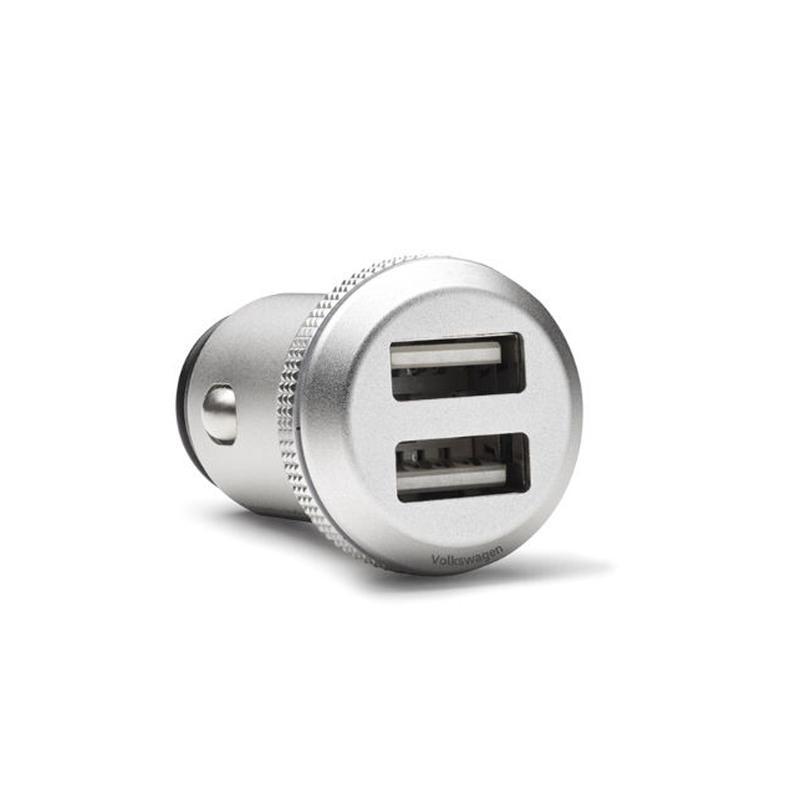 VW 純正 アルミ ダブル USBチャージャー