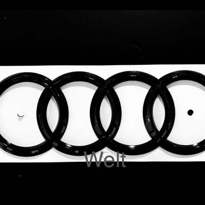 Audi 純正品 グロスブラック リア 4リングス エンブレム R8 A8 Q5 Q7