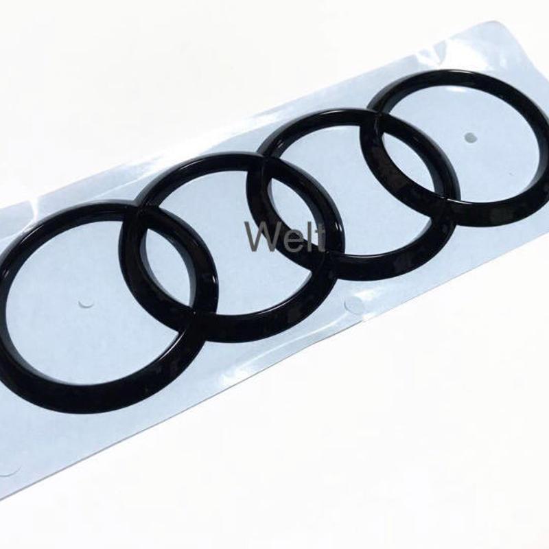 Audi 純正 グロスブラックエンブレム  R8(4S) TTRS(8S) フロント / RS3(8V) Q2 リア