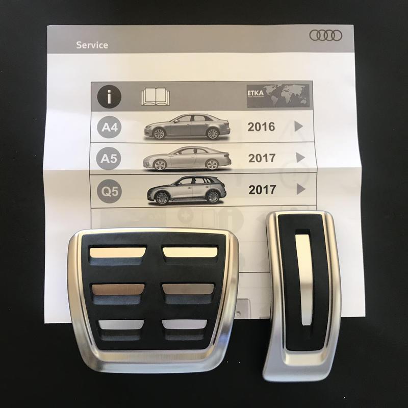 Audi 純正 ペダルカバー A4(8W) A5(F5) Q5(FY)