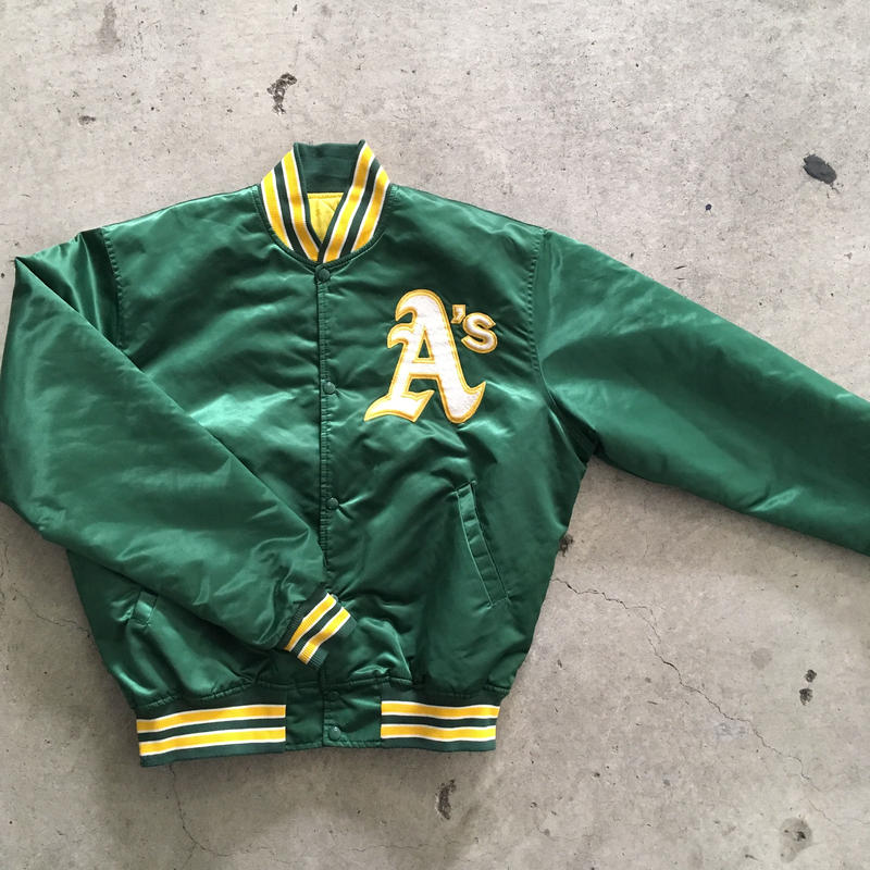 Oakland A's starter satin  jacket
