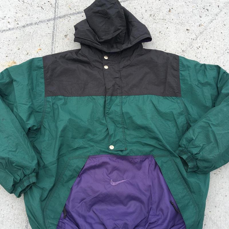 NIKE  90's pull over nylon jacket
