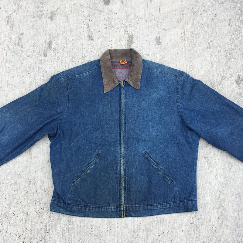 BIG BEN  Denim  Zip Up Work  Jacket  Blanket Lined