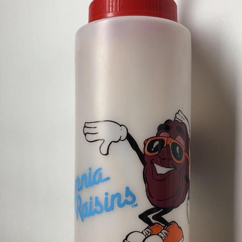 California Raisins water bottle