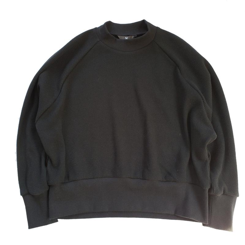 001.waffle knit big pullover