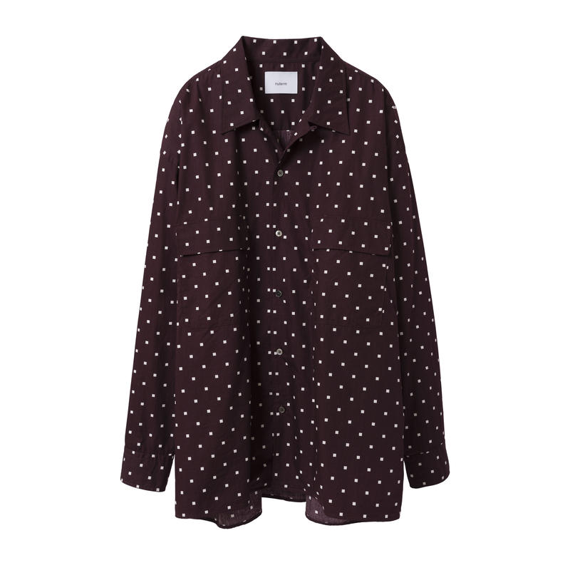 "nuterm / ""Willie""  Square Dot Print Shirt"