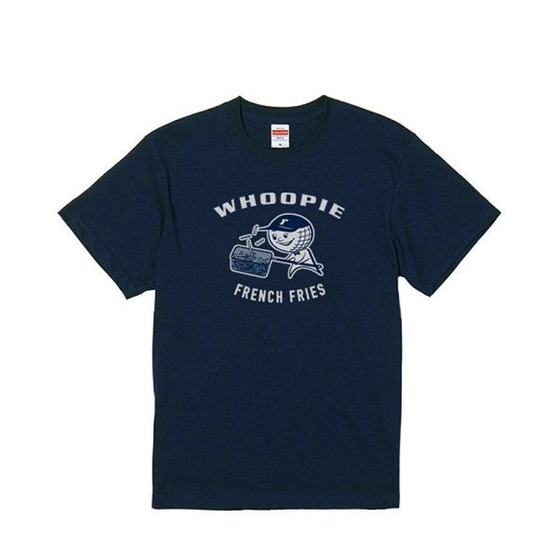 Whoopie girl T-shirt (ネイビーカラー、ライトグレープリント)