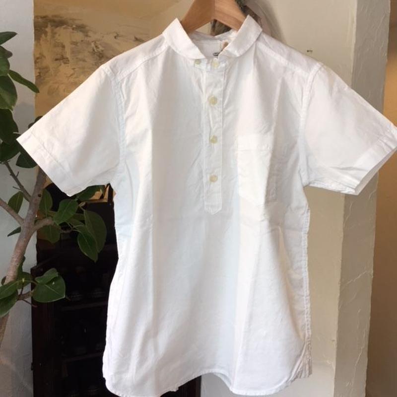 natural laundry  ソフトオックス丸襟半袖プルオーバー