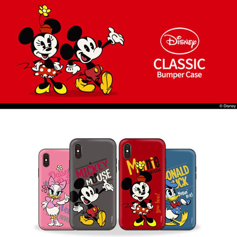 【超大人気!!】ディズニービンテージクラシックダブルバンパーケータイケース  Galaxy S10+  Galaxy S9+  iPhone X/iPhone XS   iPhone7+