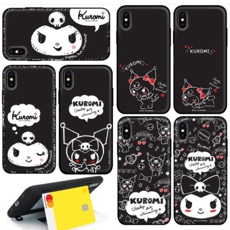 【可愛めシック♪】クロミちゃんブラックスリムシックスリムハードケータイケース iPhone7+/iPhone8+  iPhone XS max  Galaxy note9  Galaxy S6