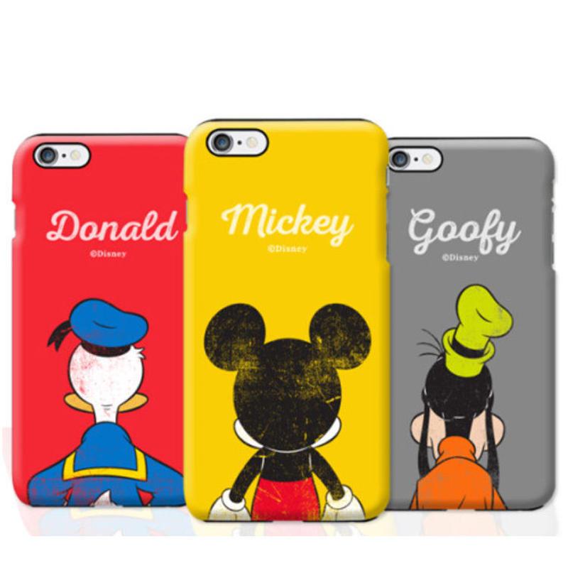 【超大人気!!】ディズニービンテージビハインドダブルバンパーケータイケース Galaxy S10+  Galaxy S9+  iPhone7+/iPhone8+   iPhone6+
