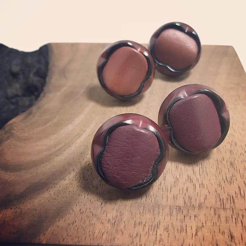 Lether earring  【Large】