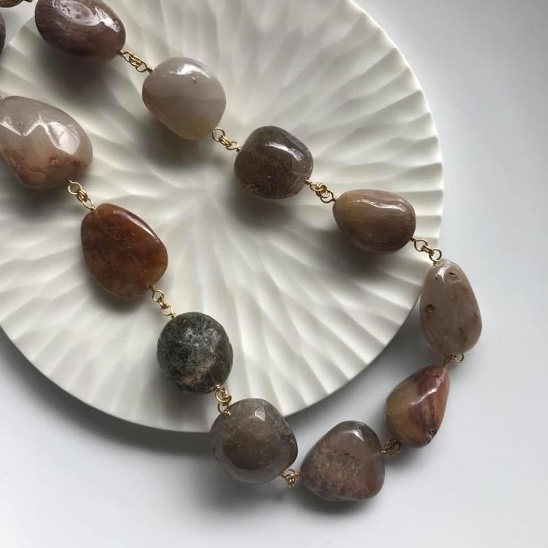 Rutile quartz necklace