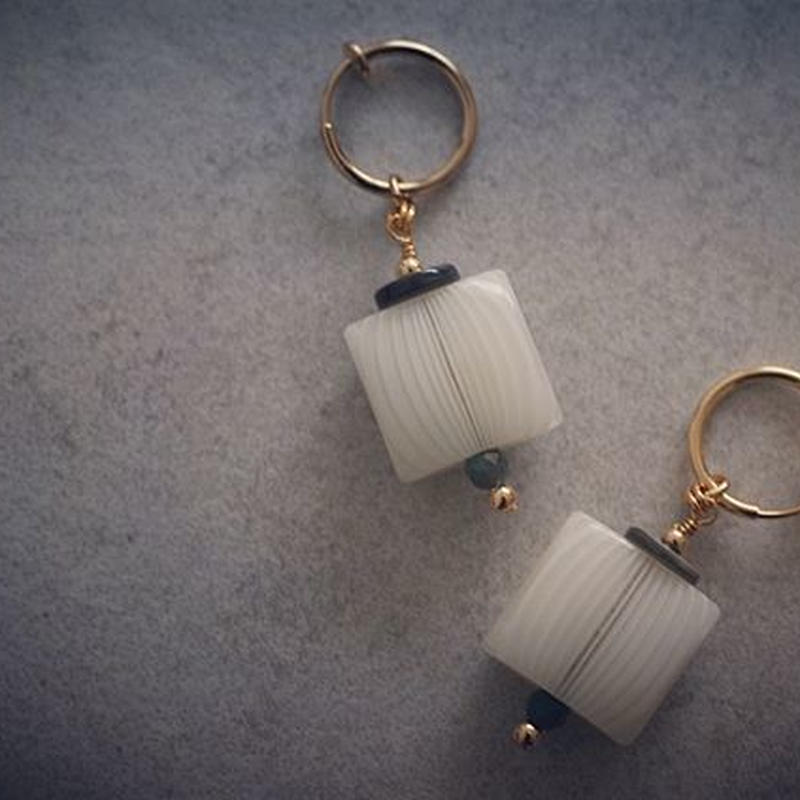 Summer square earring
