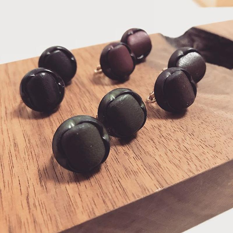 Lether earring  【Small】