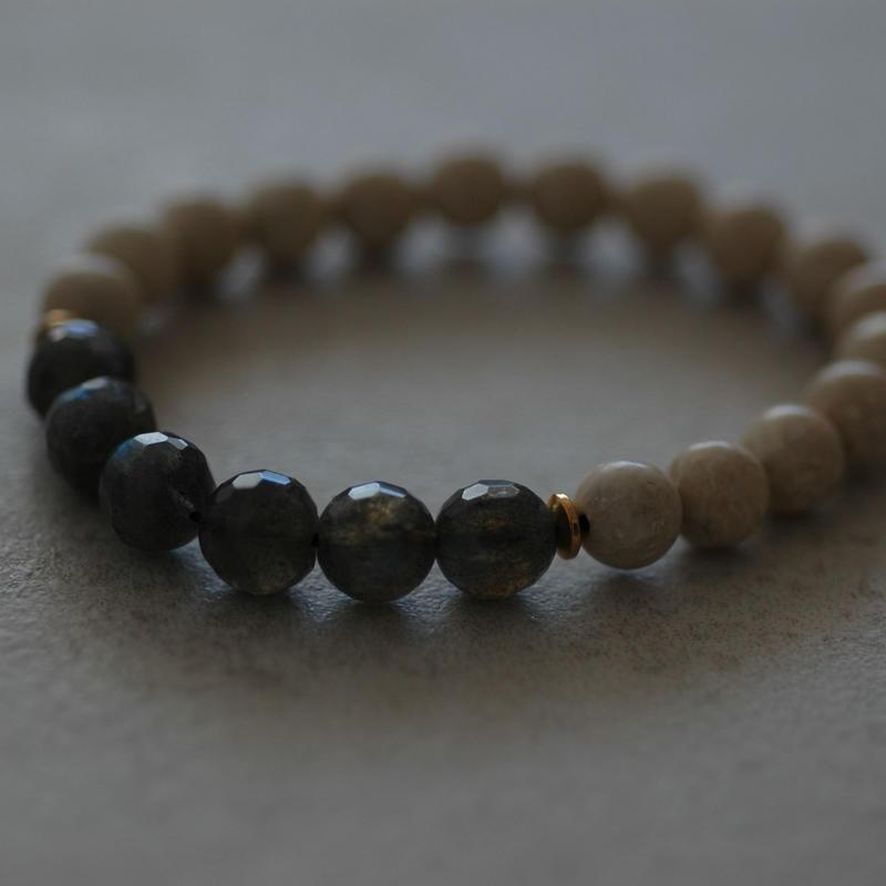 Labradorite&River stone bracelet