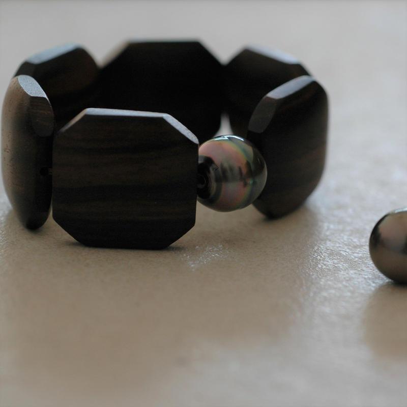Ebony bracelet 【15㎝】