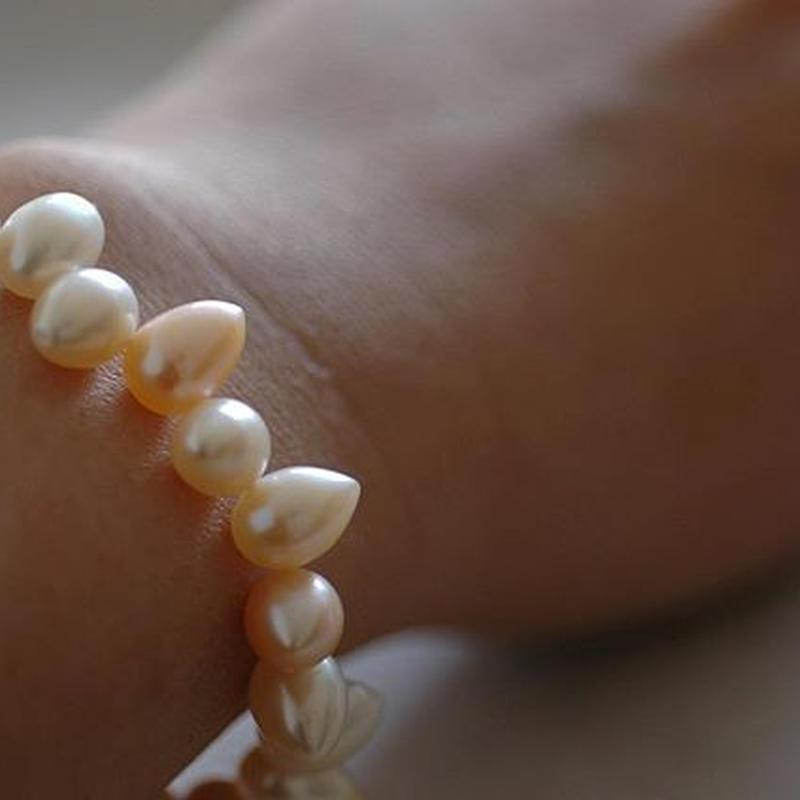 Spine pearl bracelet【14.5~17.5㎝】