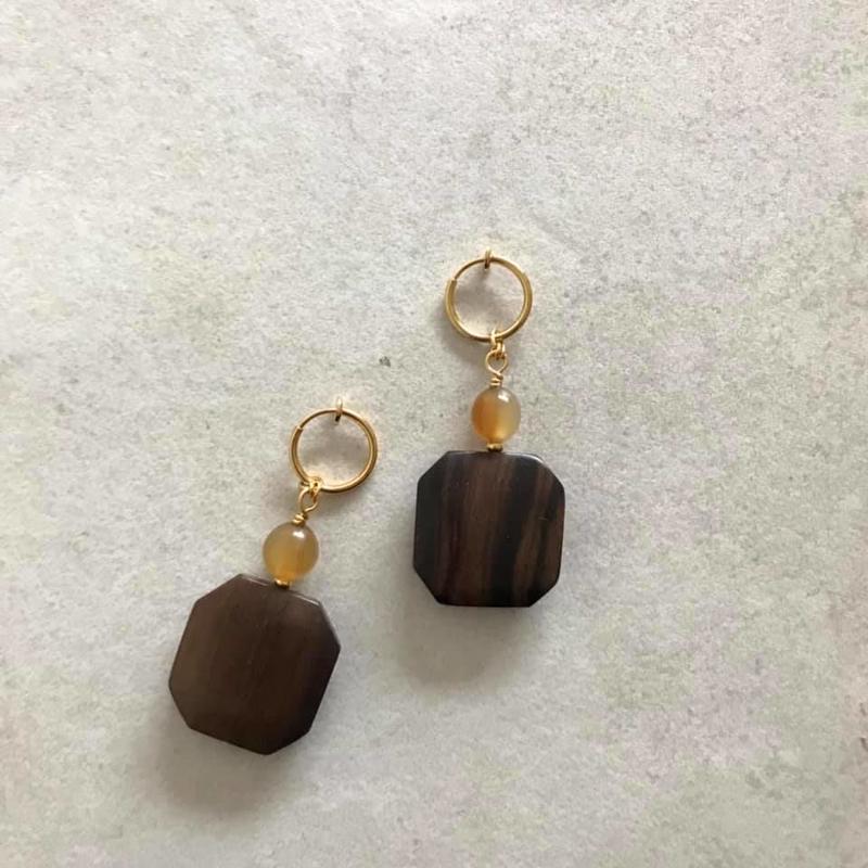 Ebony  earring
