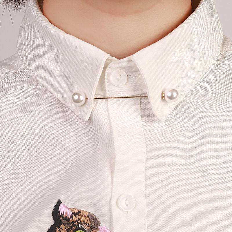 ダブル真珠ブローチ 2本セット