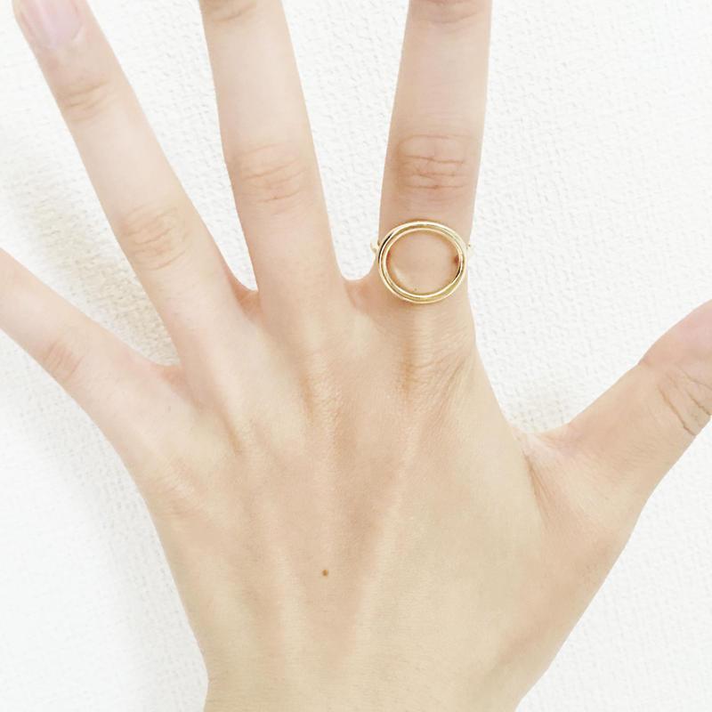 丸い指輪・リング  シルバー/ゴールド