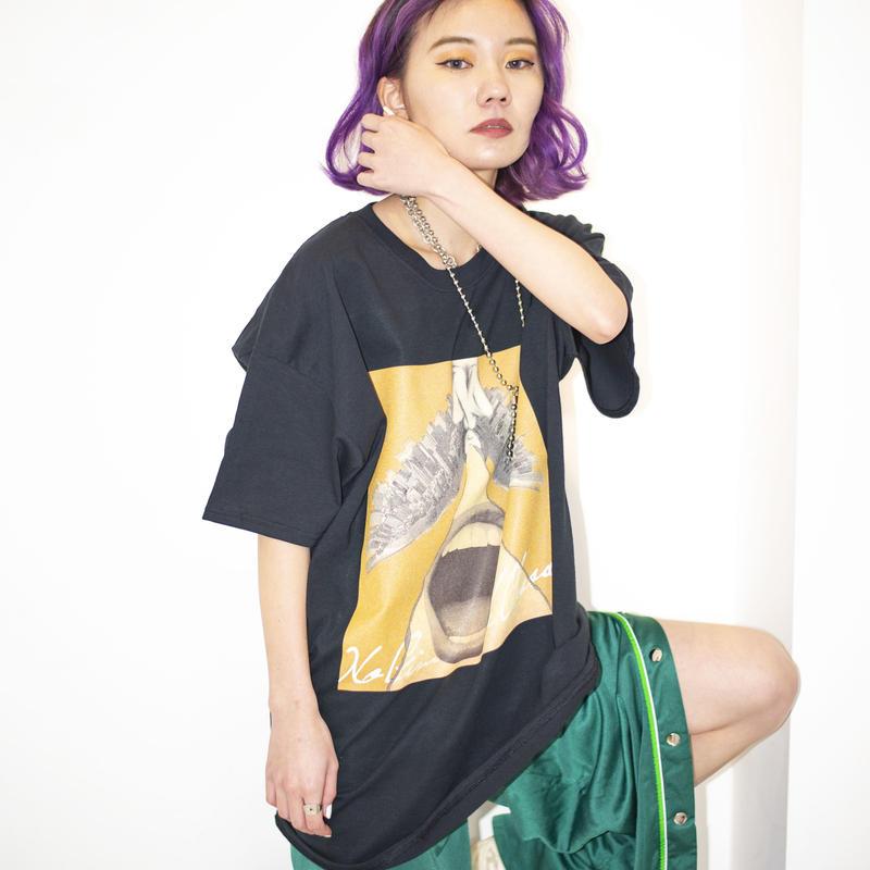"""【T-shirt】""""vandaism Jacket"""" T-shirt (BLACK) / No Gimmick Classics"""