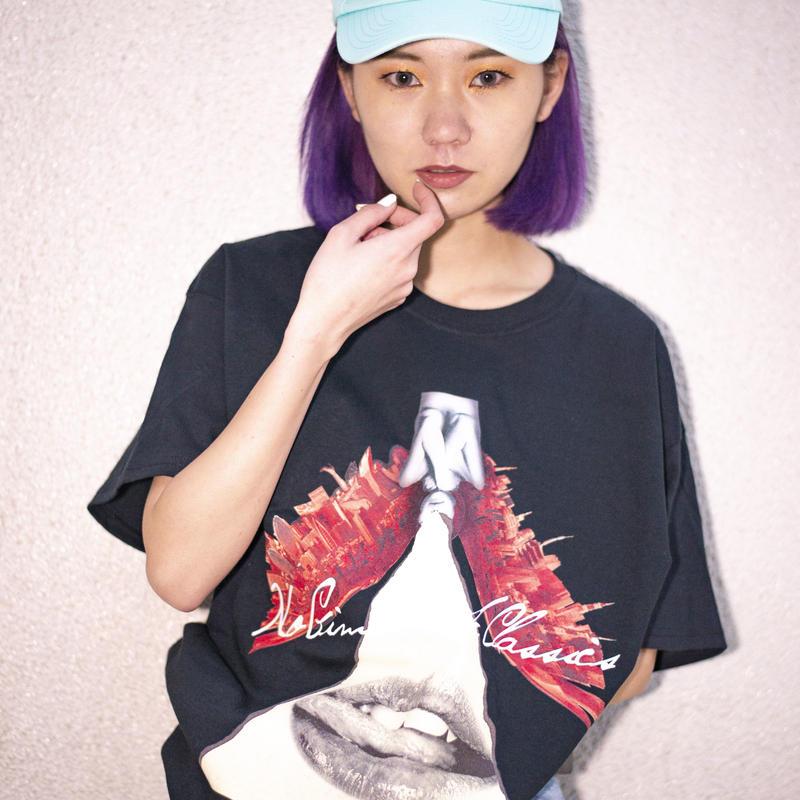 """【T-shirt】""""BadraBBit Jacket"""" T-shirt (BLACK) / No Gimmick Classics"""