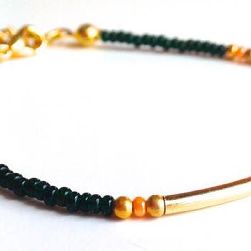 ビーズブレスレット/アンクレット グリーン トルコ dark green beads bracelet turkey bb-0005