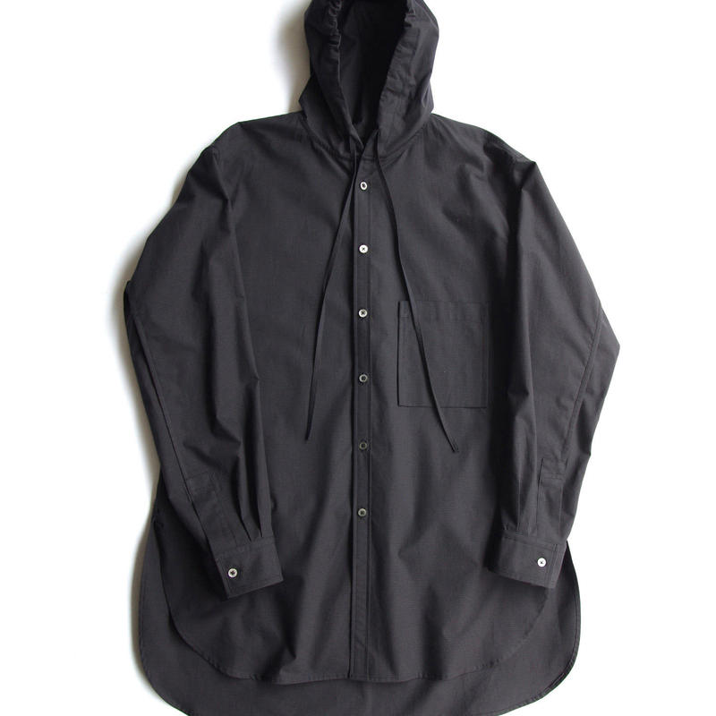 HOODED CHECK LONG SHIRTS