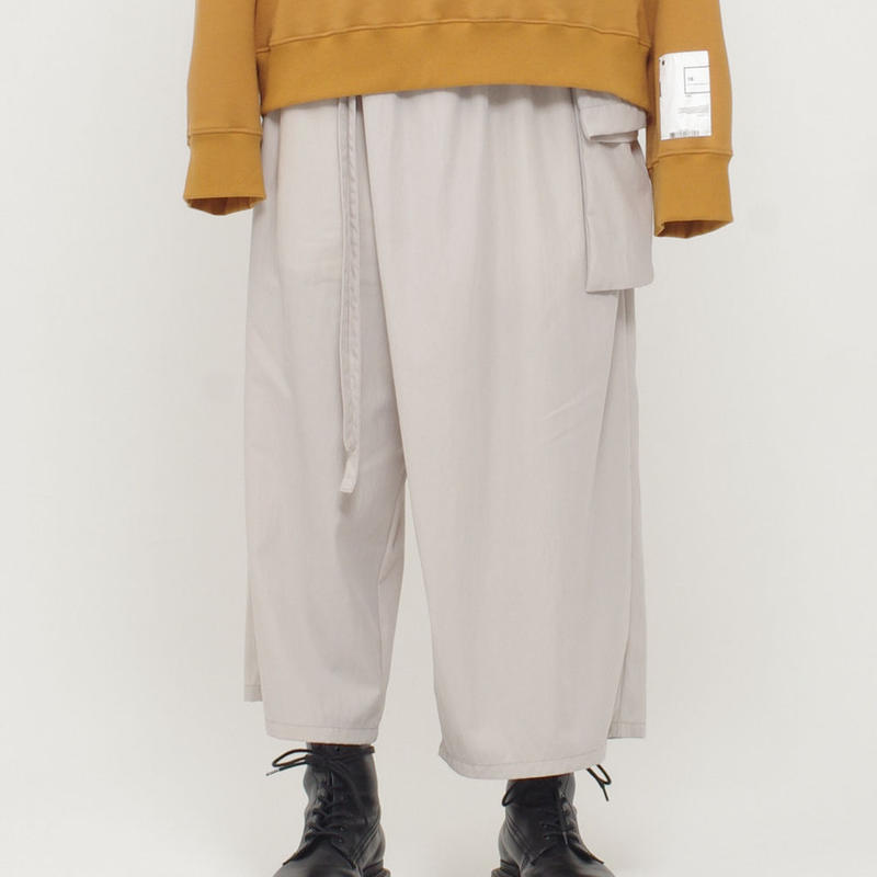 WIDE CROPPED WRAP PANTS