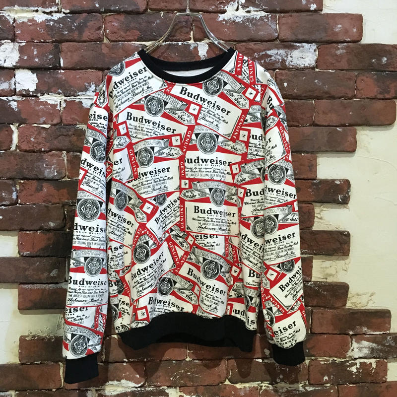 BUDWEISER ALL OVER PRINT SWEAT