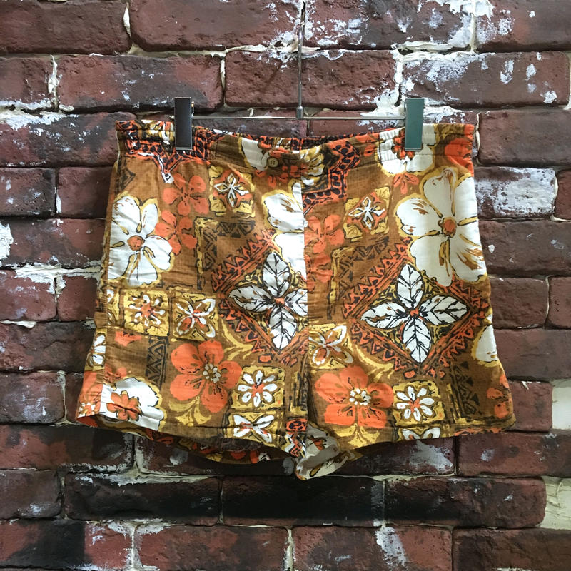 60s Jantzen COTTON HAWAIIAN SHORTS