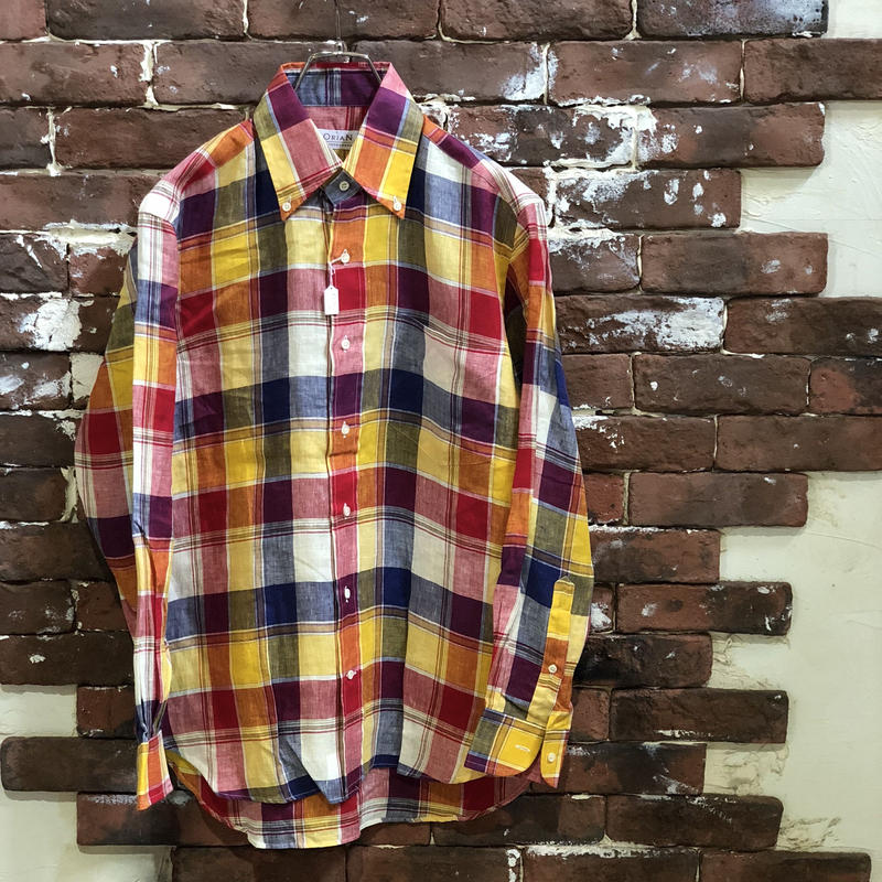 OLD LINEN CHECK SHIRT