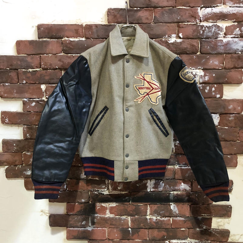 60s WOOL × NAUGA STADIUM JACKET
