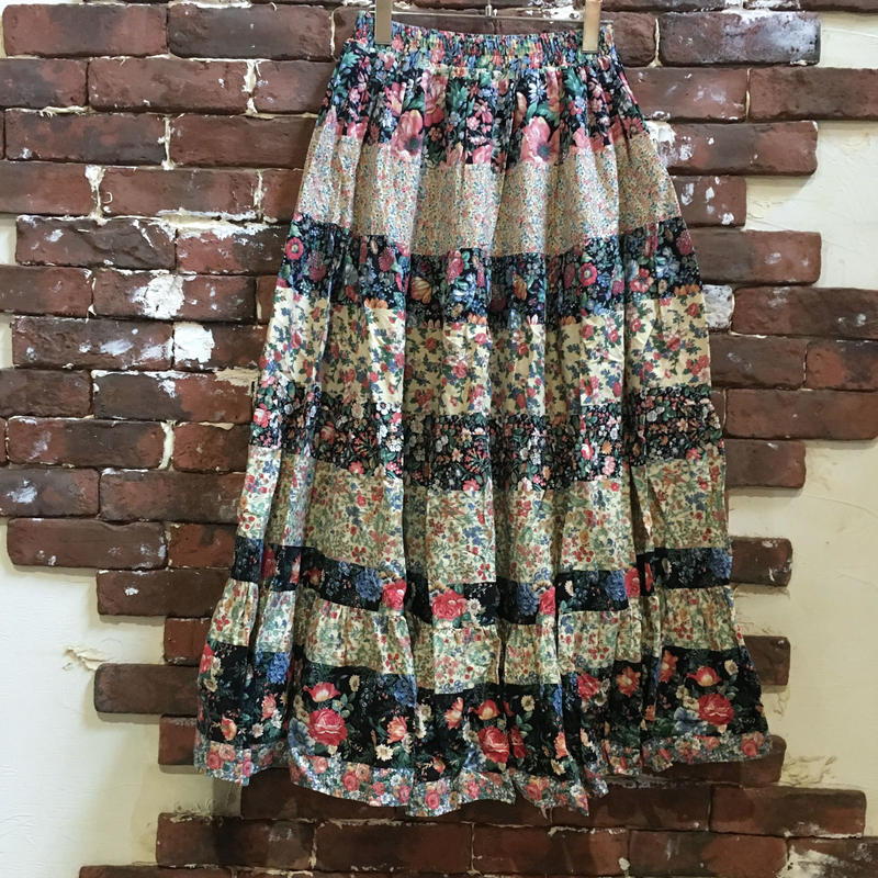 LADIES COTTON TIERED SKIRT