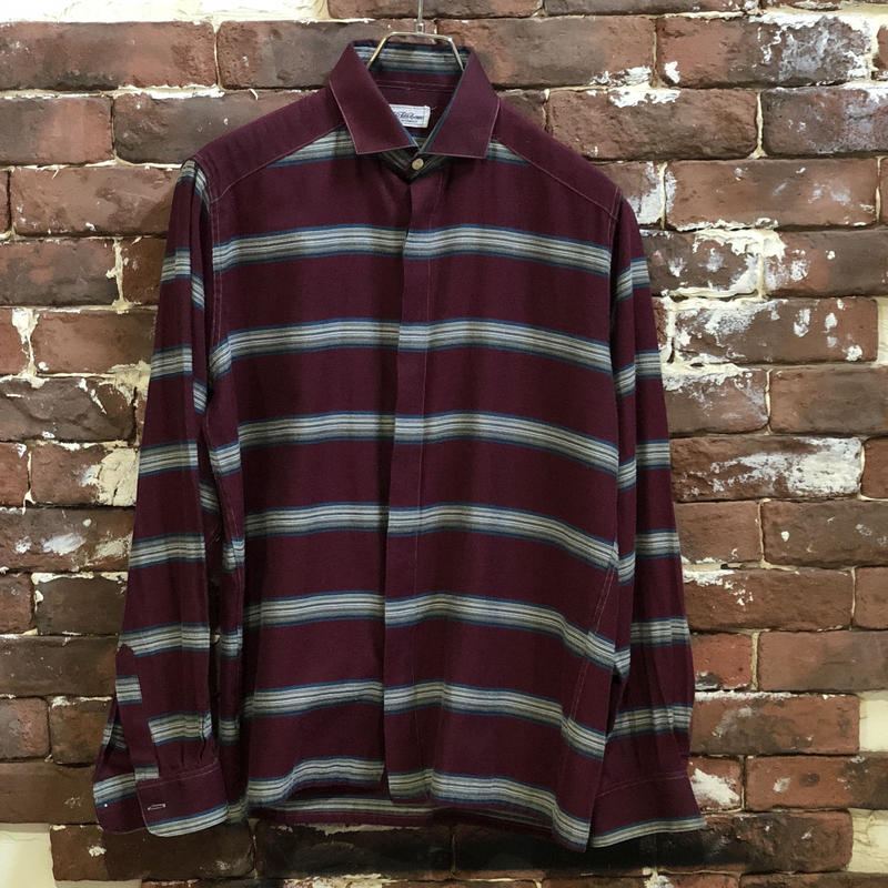 OLD SAX FIFTH AVENUE BORDER BOX SHIRT