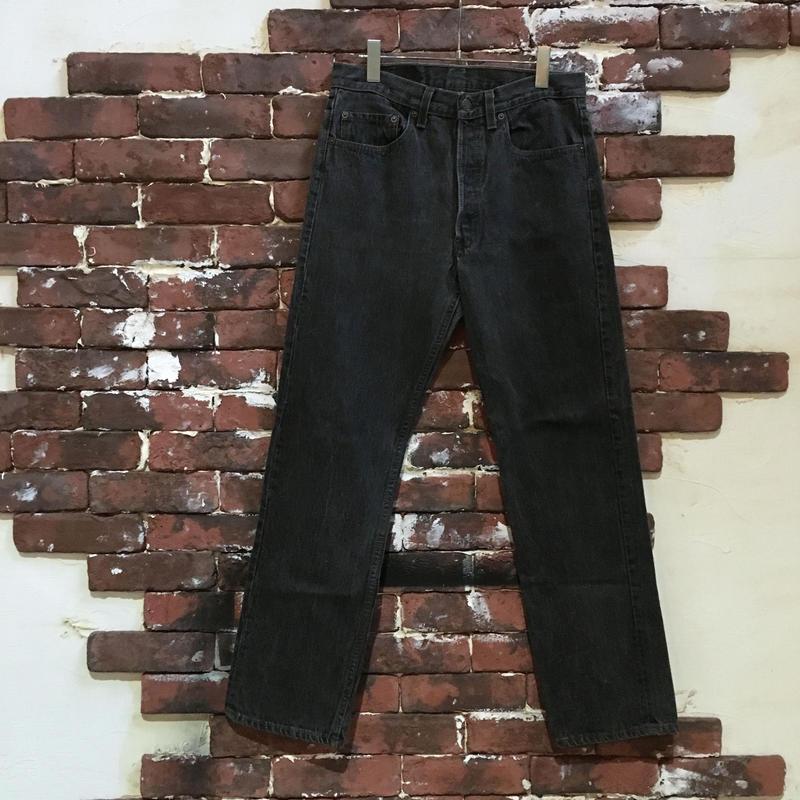 80-90S LEVIS 501 0658 BLACK DENIM PANTS