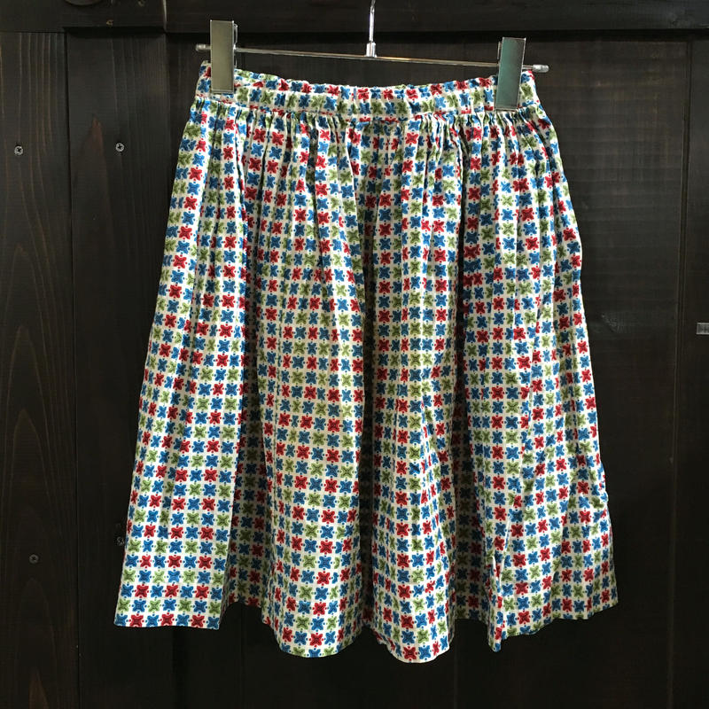 小紋柄 COTTON SKIRT