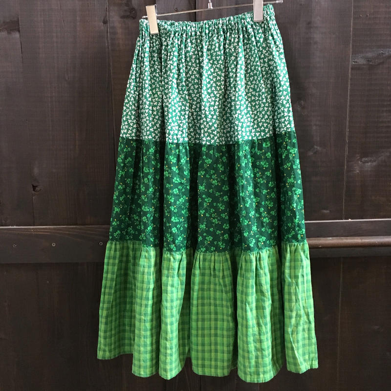 OLD CLOVER PATERN SKIRT