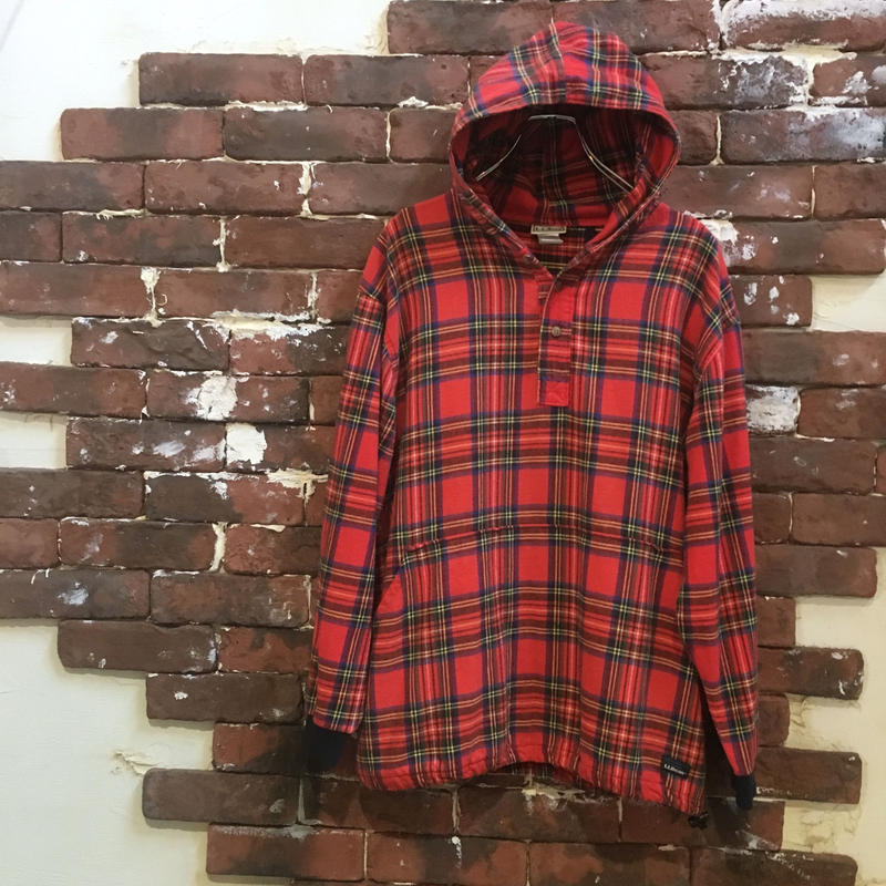 LL BEAN COTTON CHECK PARKA