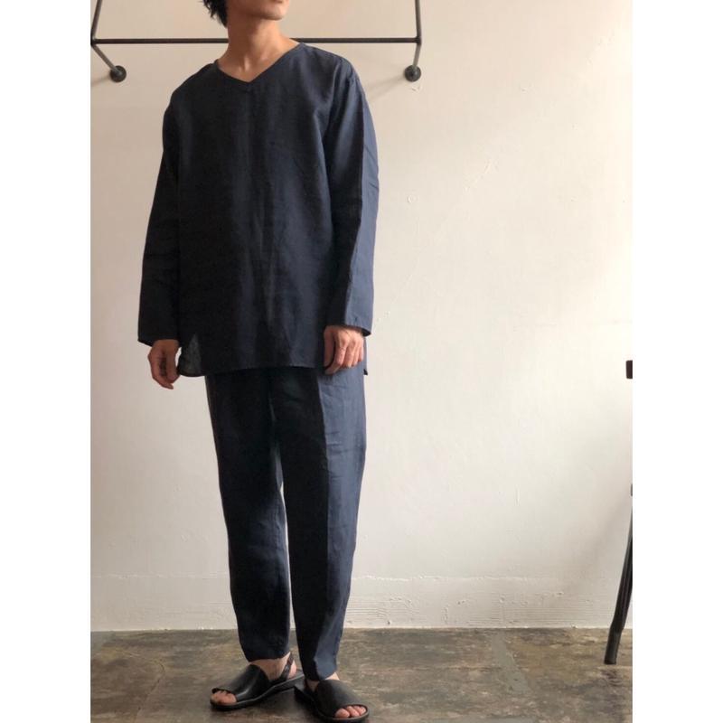 AUGUSTE-PRESENTATION PajamaLook 「 リネンシーツ長袖プルオーバー aupjaw002