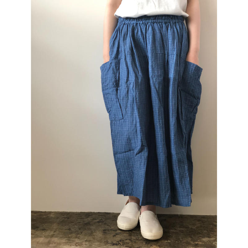 Vlas Blomme / 13539091 Thin Line Check コクーンスカート