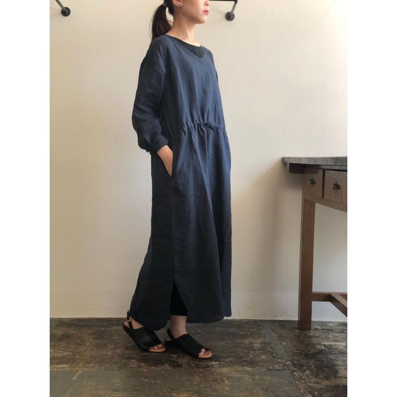AUGUSTE-PRESENTATION Pajama Look リネン長袖ワンピース