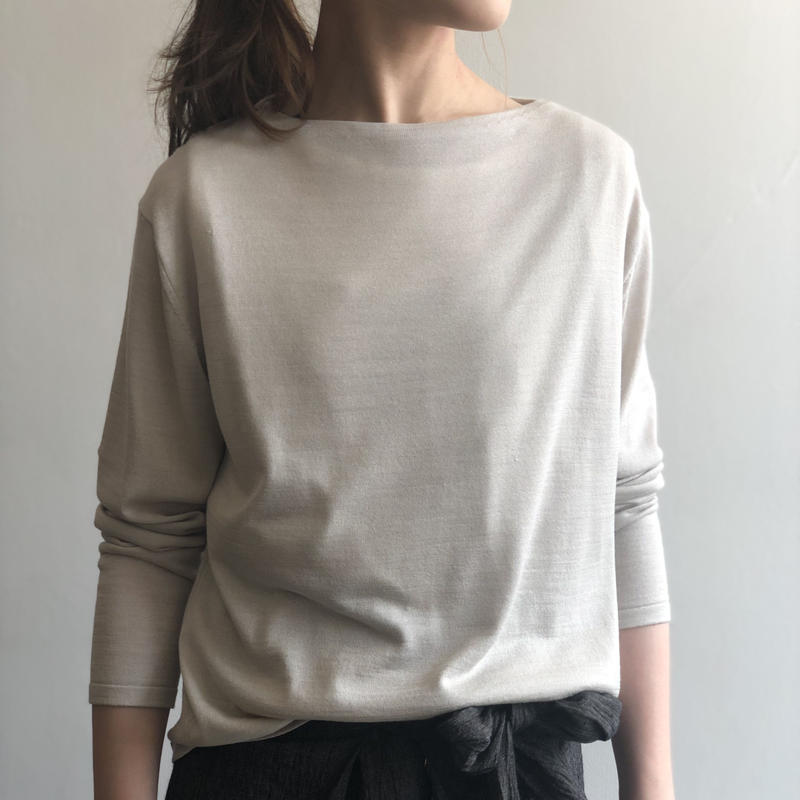 evam eva /  silk cashmere boat neck PO