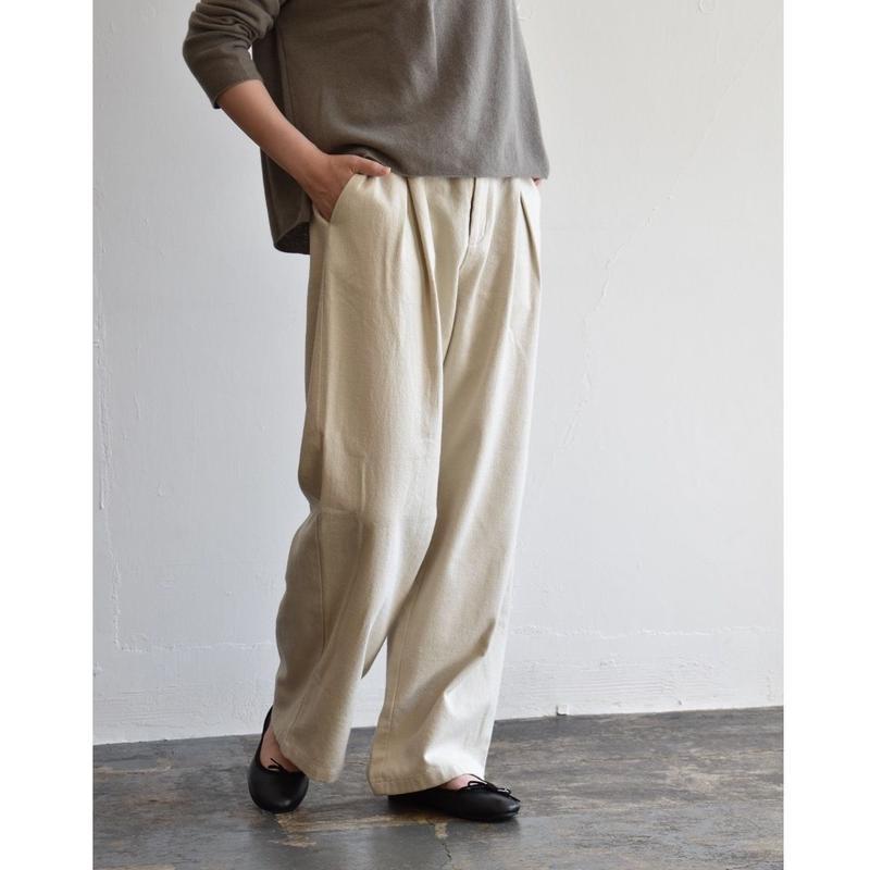 evam eva/cotton tuck pants / E193T085