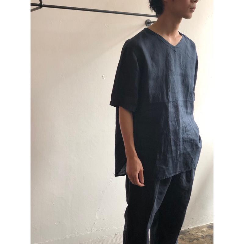 AUGUSTE-PRESENTATION PajamaLook 「 リネンシーツ半袖プルオーバーaupjaw003
