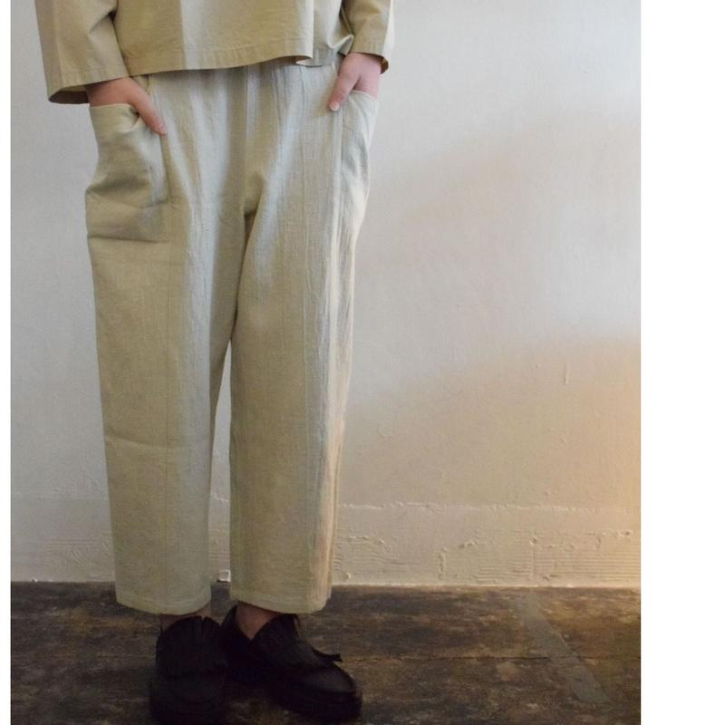 evam eva /twill voile drop pocket easy pants
